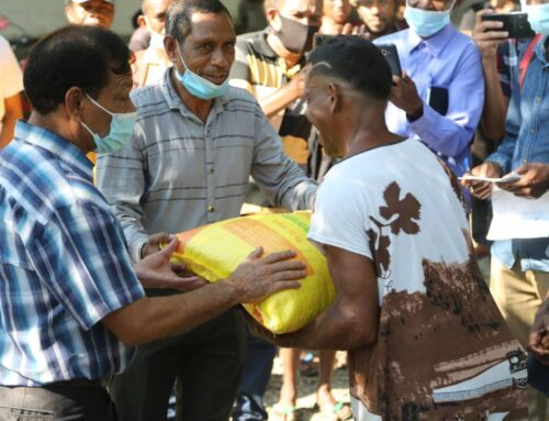 Visita às comunidades afectadas dos Sucos Wenunu e Mantelelau no PA de Metinaro